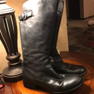Born Black Leather Tall Riding Boots Sz 8.5